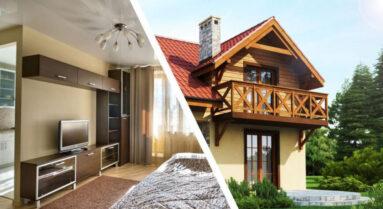 частные дома и квартиры
